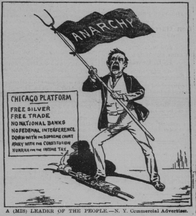 This cartoon originated in the New York Commerical Advertiser and was run in the October 10, 1896, issue of The Richmond Planet.